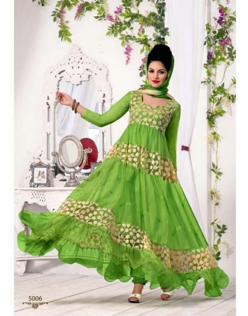 Beauty Green Anarkali Suit