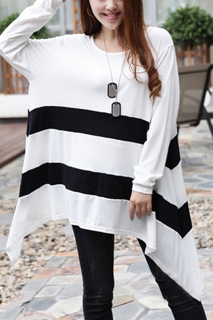 Irregular-Hem-Maxi-Length-T-shirt