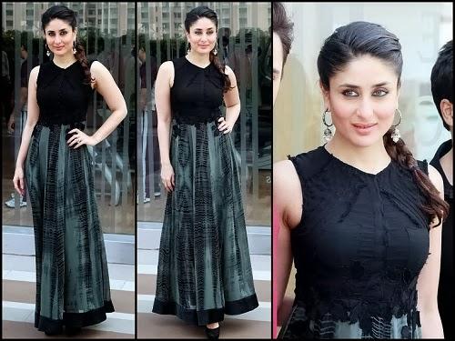 Kareena-Kapoor-In-Pallavi-Singhee-Maxi-Skirt-and-black-blouse