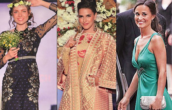 Neha dhupia in British fashion brand Temperley London