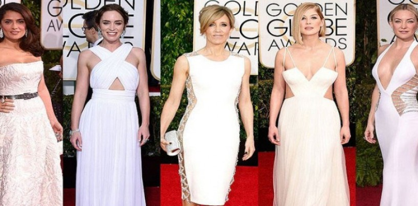 Pretty in White– Golden Globe Awards 2015