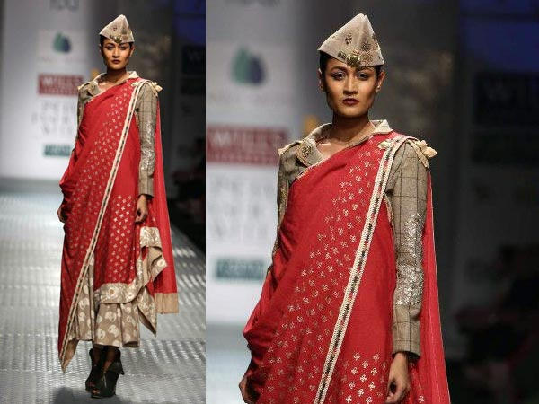 dupatta style saree