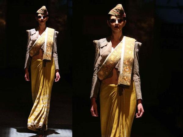 shawl style saree