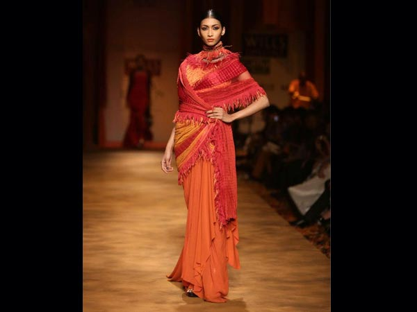 skirt style saree