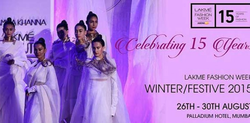 Lakme Fashion Week winter-festive 2015 to begin on August 26
